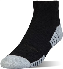 Under Armour HeatGear Tech Low Cut Mens Socks (3 Pack), Black/Graphite