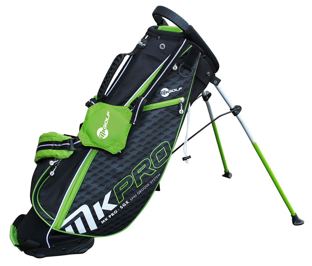 "MKids Pro Green 57"" Junior stand bag (145cm), 9-11lat"