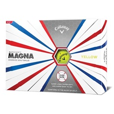 Callaway Supersoft Magna Yellow piłki golfowe