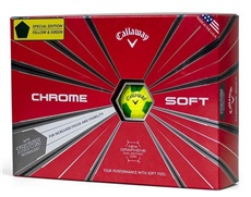 Callaway Chrome Soft Truvis Yellow/Green piłki golfowe