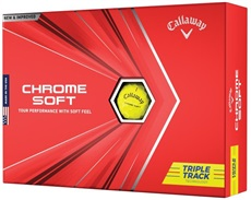 Callaway Chrome Soft Triple Track Yellow piłki golfowe