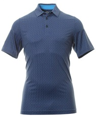 Callaway All Over Chev Print męskie polo, peacoat