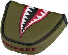 Odyssey Fighter Plane Mallat headcover na putter