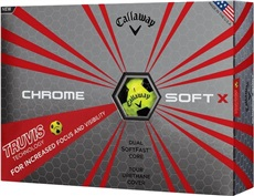 Callaway Chrome Soft X Truvis Yellow piłki golfowe