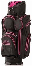 JuCad Aquastop cart bag, black/pink