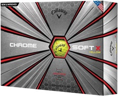 Callaway Chrome Soft X Yellow piłki golfowe 2018