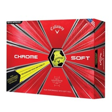 Callaway Chrome Soft Truvis Yellow/Black piłki golfowe