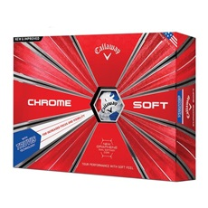 Callaway Chrome Soft Truvis Red/Blue piłki golfowe