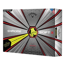 Callaway Chrome Soft X Truvis Yellow piłki golfowe 2018