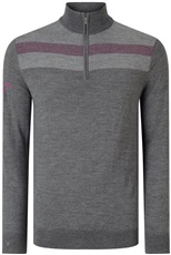 Callaway Jacquard Merino mens sweater 2017, granite heather grey