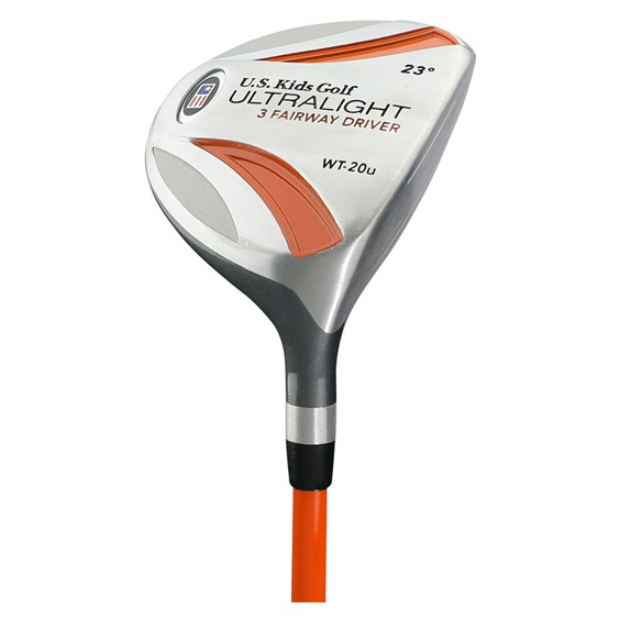 US Kids Golf UL51-U Orange fairway driver, lewy