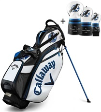 Callaway British Open Tour Staff stand bag + 3 headcovery