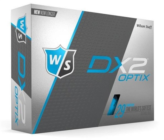 Wilson Staff DX2 Soft Optix Blue piłki golfowe